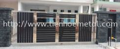 S239 Open Gate And Aluminium and Tempered Glass Stainless Steel
