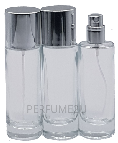 PERFUME BOTTLES (35ML) CLEAR SCREW NECK
