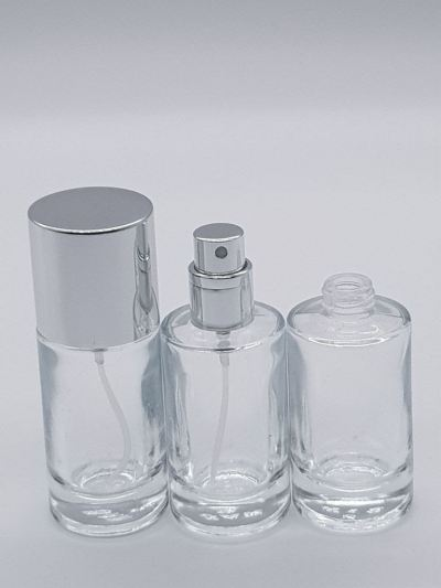 PERFUME BOTTLE (20ML) CLEAR SCREW NECK
