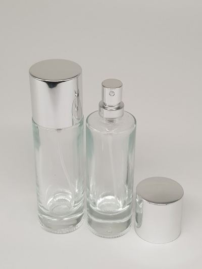 PERFUME BOTTLE (35ML) CLEAR CRIMP NECK