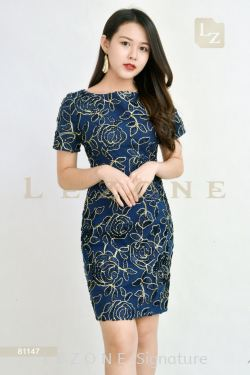 81147 JACQUARD DRESS【BUY 2 FREE 3】