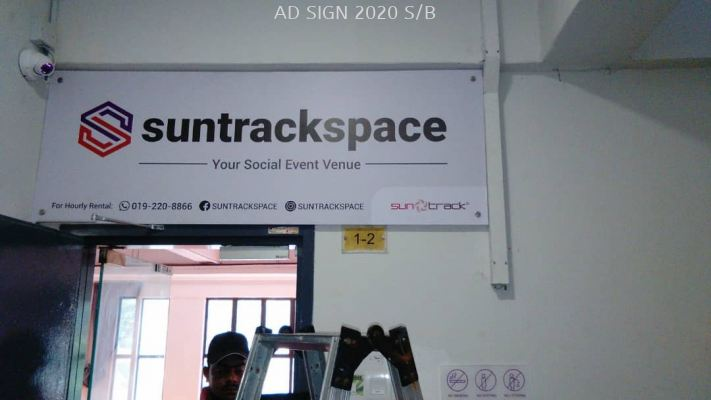 Acrylic Signage with Stainless Steel Bolt Nuts (Indoor)