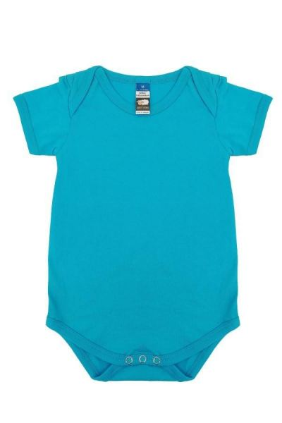 Basic Fully Combed Rompers (Turquoise)