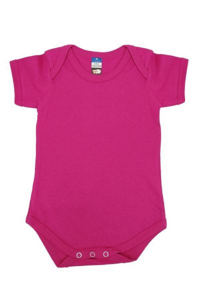 Basic Fully Combed Rompers (Fuchsia)