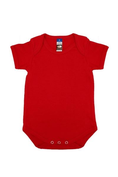 Basic Fully Combed Rompers (Red)