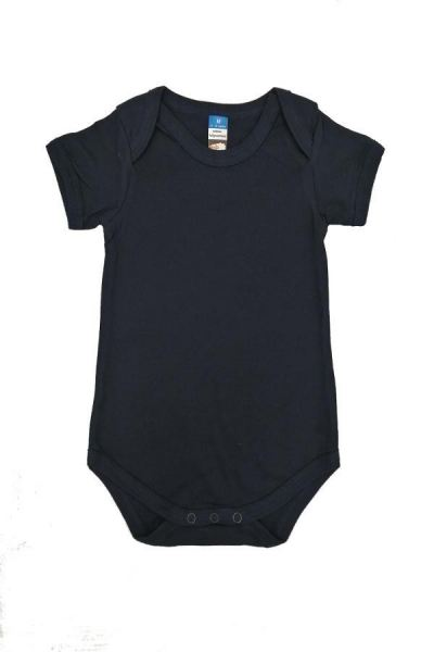 Basic Fully Combed Rompers (Navy Blue)