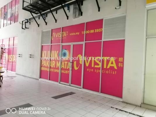 VISTA Klinik Pakar Mata Glass Sticker at Cheras