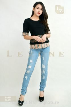 10031 DENIM LONG PANTS 【1ST 10% 2ND 15% 3RD 20%】