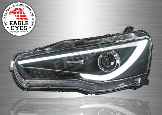 Mitsubishi Lancer Projector LED Sequential Signal Head Lamp 08~15