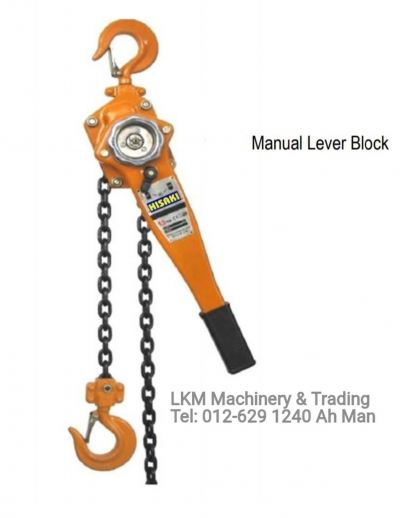 Manual Lever Block 0.75ton, 1.5ton, 3ton