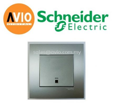 Schneider SCHKB31D20NE-AS Vivace 20A Double Pole Switch With Neon & Earth