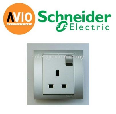 Schneider SCHKB15-AS Vivace 13A x 1 Gang Switched Socket Outlet