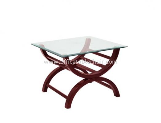ALEXIS SQUARE COFFEE TABLE C/W TEMPERED GLASS TABLE TOP