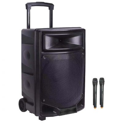 DBL Portable Speaker MG-12 with 2 pcs Handle Microphone, 12 inch, 200W