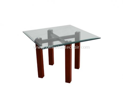 CONNEXION SQUARE COFFEE TABLE C/W TEMPERED GLASS TABLE TOP ACL 7711-6T