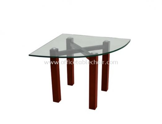 CONNEXION TRIANGLE COFFEE TABLE C/W TEMPERED GLASS TABLE TOP ACL 7711-8T