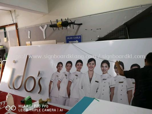 Ido's Clinic 3D LED box up lettering Front lit Billboard signboard At bukit tinggi klang