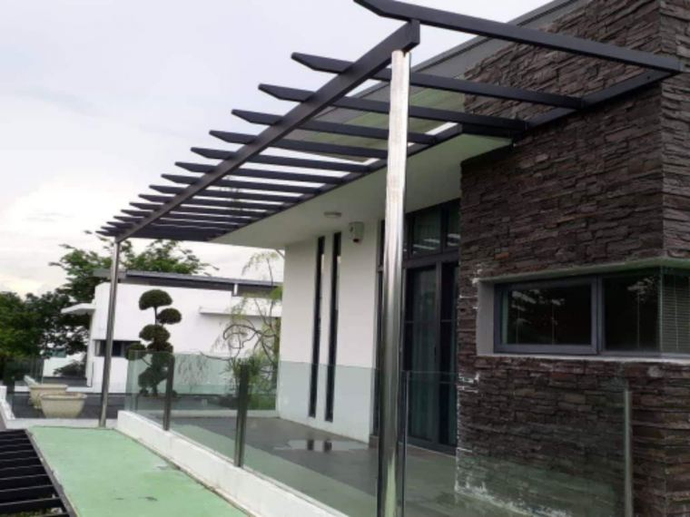 To supply & installation awning , grill door