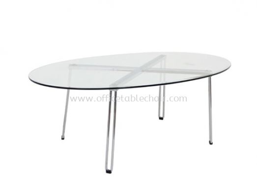 FUTURA OVAL COFFEE TABLE C/W TEMPERED GLASS TABLE TOP ACL 7733-5T