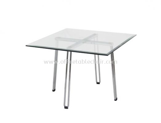 FUTURA SQUARE COFFEE TABLE C/W TEMPERED GLASS TABLE TOP ACL 7733-6T