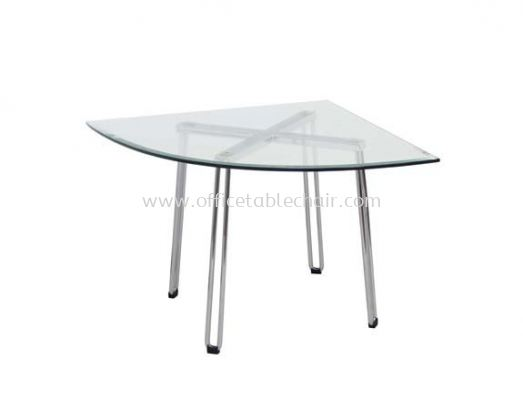 FUTURA TRIANGLE COFFEE TABLE C/W TEMPERED GLASS TABLE TOP ACL 7733-8T