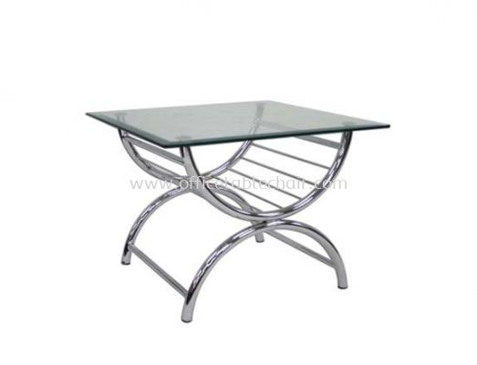 SQUARE COFFEE TABLE C/W TEMPERED GLASS TABLE TOP ACL 9988-6T