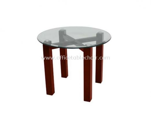 NEXUS SET ROUND COFFEE TABLE C/W TEMPERED GLASS TABLE TOP ACL 7711-7T
