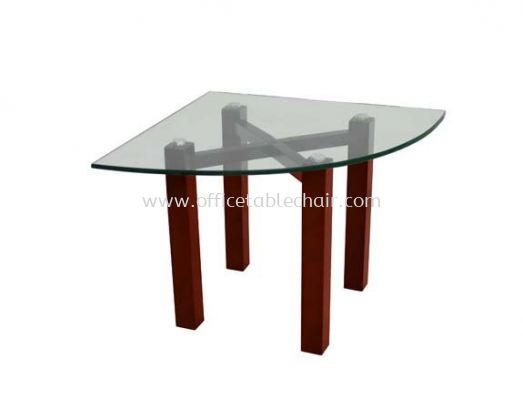 NEXUS SET TRIANGLE COFFEE TABLE C/W TEMPERED GLASS TABLE TOP ACL 7711-8T