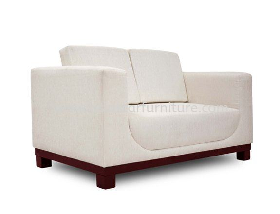 ALEXIS TWO SEATER SOFA C/W EPOXY METAL BASE ACL 9933-2