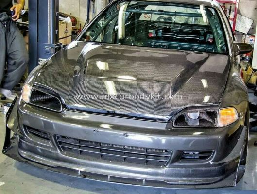 HONDA CIVIC EG 1993 JS RACING CARBON HOOD BONNET