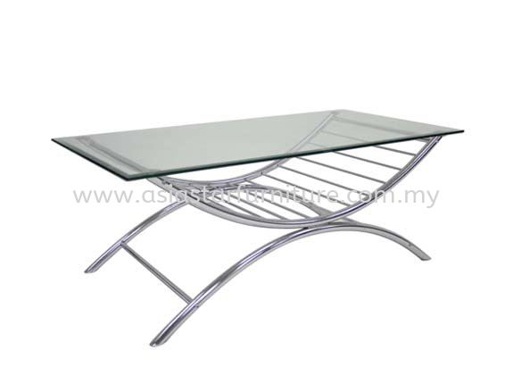 GINA RECTANGULAR COFFEE TABLE C/W TEMPERED GLASS TABLE TOP - Top 10 Most Popular Coffee Table | coffee table Seri Kembangan | coffee table Serdang | coffee table Puncak Jalil