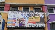 Pusat Tuisyen Pintar Usaha (Kepong) Spider Web Vinyl Tensioning