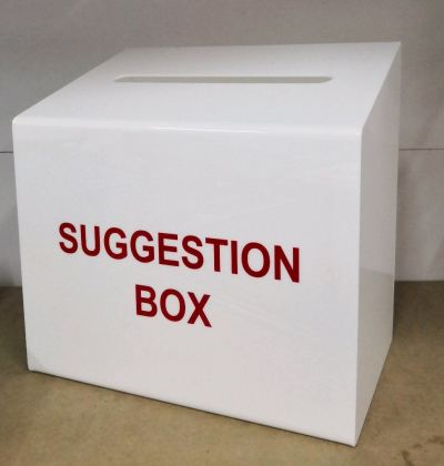 Custom made Suggestion Box