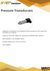 Pressure Transducers Intro Pressure Transducers AEP TRANSDUCERS