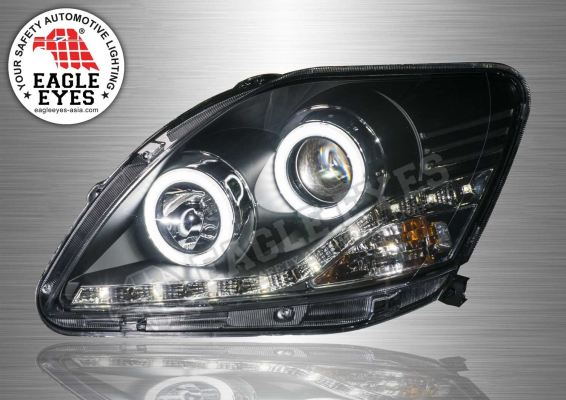 Toyota Vios Projector LED DRL Headlamp (Extreme LED Ring) 07-10