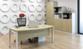 SL-180A WOODEN FRONT PANEL Executive Series Office Working Table Office Furniture