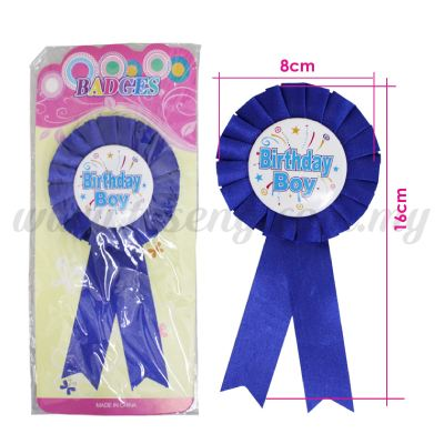 Badges Birthday Boy - Blue (DU-BAD-BB)