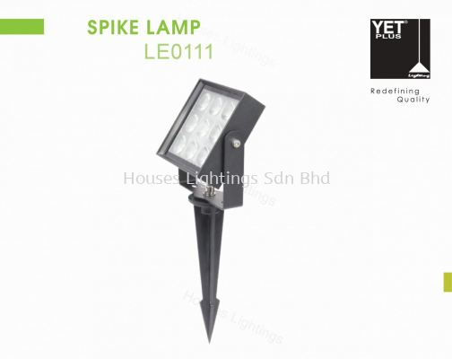 YET LE0111 BK 9W 15W WW SPIKE LAMP