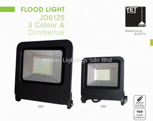 YET JD6125 3-Colour 30W 50W floodlight