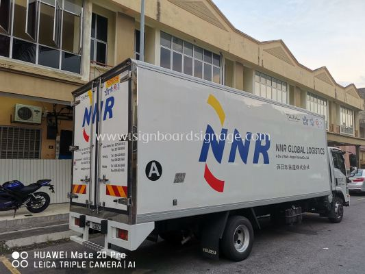 NNR GLOBAL LOGISTICS Truck sticker at KLIA