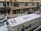 NNR GLOBAL LOGISTICS Truck sticker at KLIA Logistics truck TRUCK LORRY STICKER