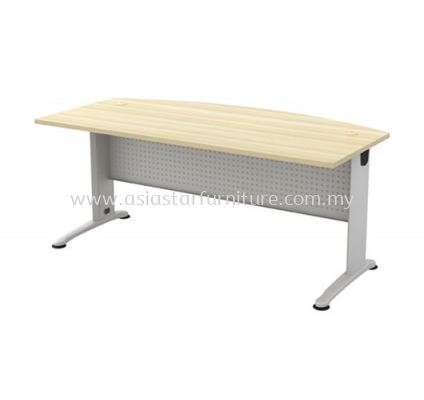 EXECUTIVE TABLE D-SHAPE METAL J-LEG C/W METAL MODESTY PANEL BMB 180A