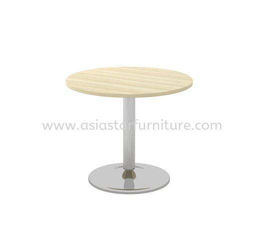 BERLIN ROUND DISCUSSION OFFICE TABLE METAL CHROME LEG ABR 90