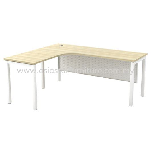 MUPHI L-SHAPE WRITING OFFICE TABLE/DESK - L-Shape Office Table Mutiara Damansara| L-Shape Office Table Sepang | L-Shape Office Table Banting | L-Shape Office Table Rawang