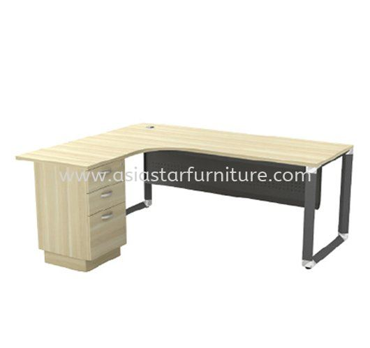PYRAMID L-SHAPE WRITING OFFICE TABLE/DESK - L-Shape Office Table Kepong   L-Shape Office Table Sungai Buloh   L-Shape Office Table Tropicana   L-Shape Office Table Taman Tun Dr Ismail