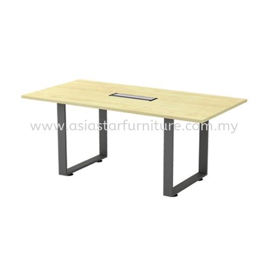 OLVA RECTANGULAR MEETING OFFICE TABLE ASQVB 18 (C/W FLIPPER BOX)