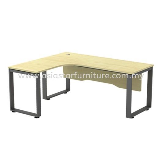 OLVA L-SHAPE WRITING OFFICE TABLE/DESK - L-Shape Office Table Subang | L-Shape Office Table Taman Maluri | L-Shape Office Table Ampang Jaya | L-Shape Office Table Mutiara Damansara