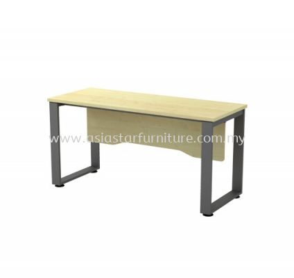 RECTANGULAR WRITING TABLE METAL O-LEG C/W WOODEN MODESTY PANEL SQWT 126 (WITHOUT TEL CAP)