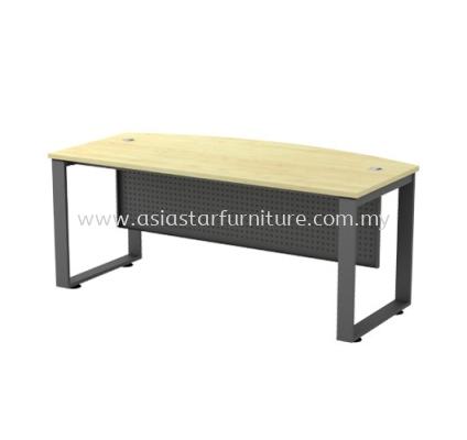 EXECUTIVE TABLE METAL O-LEG C/W METAL MODESTY PANEL SQMB 180A
