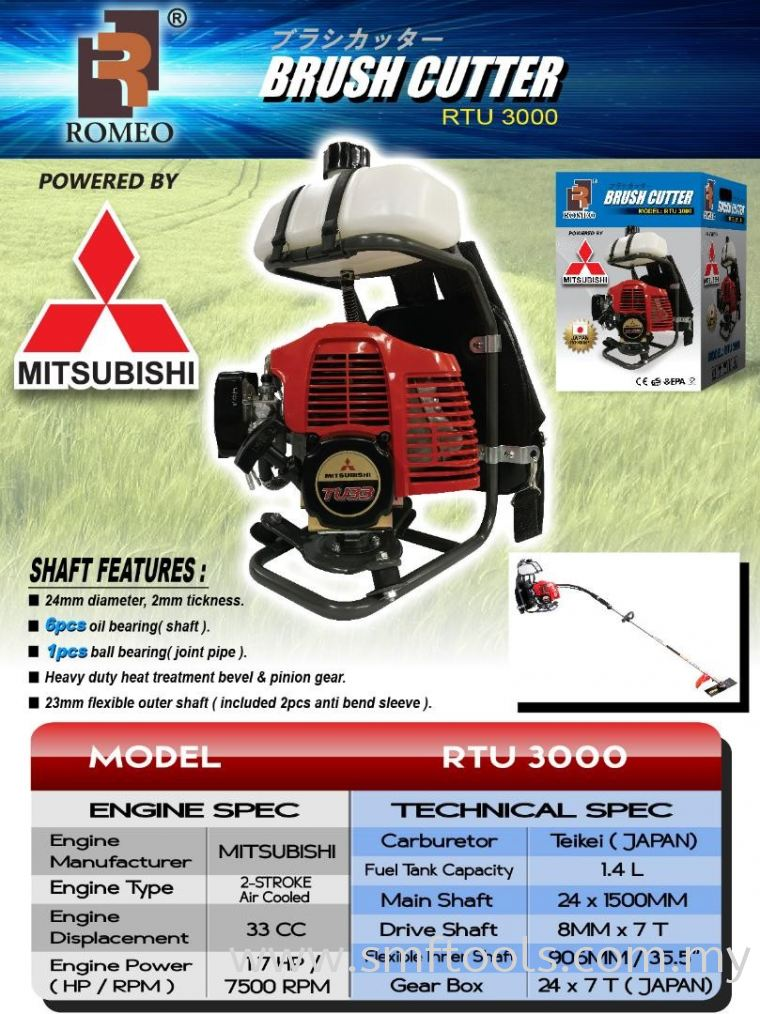 Mitsubishi Brush Cutter RTU3000 Motor Set